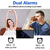 Digital Dual Alarm Clock for Bedroom, Large Display