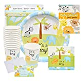 Baby Shower Decorations for Boy – Safari Decorations Bundle that Includes Invitations, Banners, Cups, Plates, Napkins and More – Complete Kit