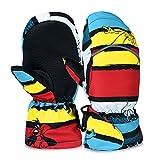 Vbiger Kids Ski Gloves Winter Warm Mittens (Multicolor, L)