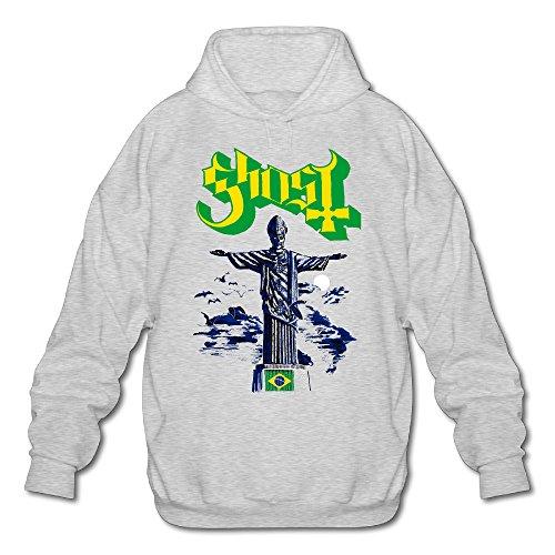 XJBD Men's Popestar-Ghost B.C. Sweater Ash Size L
