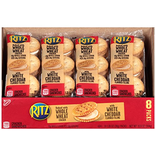 Ritz Whole Wheat Cracker Sandwiches with White Cheddar Filling, 1.35 Ounce (Pack of (Ritz Sandwich)