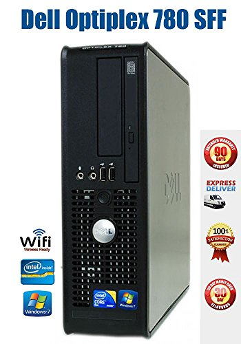 Sale!!! Dell OptiPlex 780 SFF Desktop Computer - Intel Core 2 Duo 2.93 GHz 4GB RAM 750GB HDD DVD ROM Windows 7 Pro 64 Bit Keyboard, Mouse WiFi Ready
