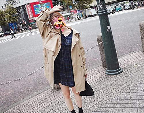 Hx Khaki Double Streetwear Breasted Invernali Laterali Manica Ragazza Cappotti Inclusa Tasche Bavero Chic Trench Giacca Donna Cintura Fashion Outwear Lunga Monocromo Vento Swag rWnBfrqw