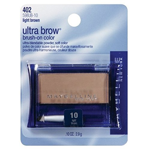 - Maybelline New York Ultra-brow Brow Powder, 10 Light Brown, 0.1 Ounce, Pack of 2