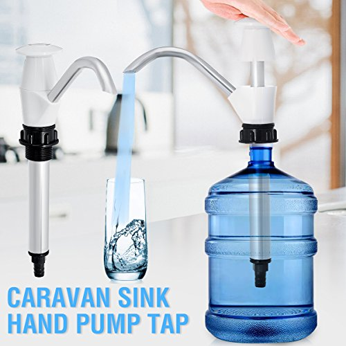 Sink Water Hand Pump,KISENG Double Action Camping Trailer Motorhome Replacement Caravan Sink Dispenser by KISENG (Image #3)
