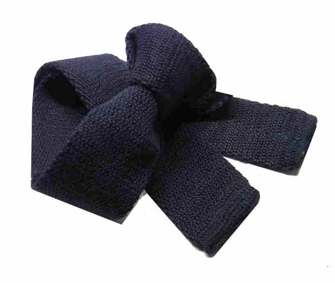 cercare la vendita di scarpe consegna gratuita Avantgarde - Cravatte lana maglia tinta unita uomo vari colori: blu,  bordeaux, nero, bianco, marrone, grigio, tricot tie made in Italy