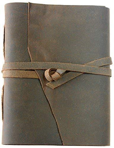 Stoke Your Wanderlust - Leather Journal, Travel Diary, Notepad, Scribble, Unlined Paper Sketchbook, Recipe Book. #2 Pencils Included (Tamarind Brown 6x8) [並行輸入品] B07T9TMKMM