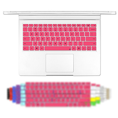 Masino Silicone Keyboard Cover Ultra Thin Keyboard Skin for Microsoft Surface Book (Silicon Keyboard Skin-Pink)