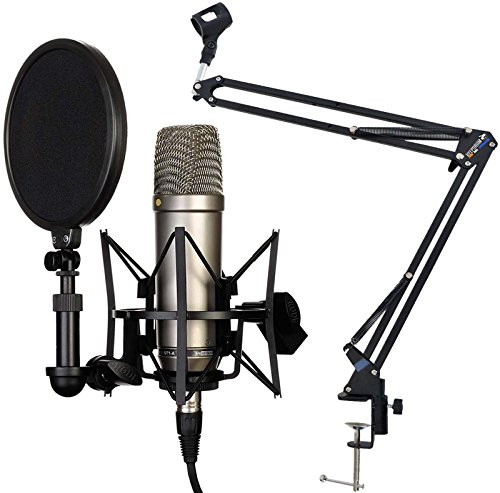 Rode NT1-A Set Kondensator Mikrofon + KEEPDRUM NB35 Gelenkarm Stativ Schwarz