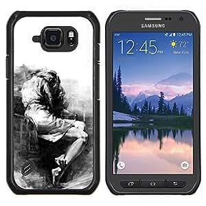 LECELL--Funda protectora / Cubierta / Piel For Samsung Galaxy S6Active Active G890A -- Triste Llorando Depresión melancólica Heartbreak --