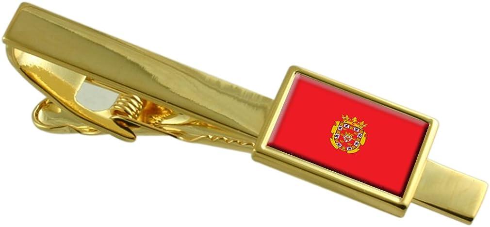 Select Gifts Ciudad de Murcia Bandera España Clip de Corbata de Oro: Amazon.es: Joyería