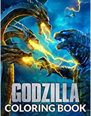 Godzilla Coloring Book: Perfect Gifts For Godzilla Lovers With Incredible Illustrations To Color, Relief Stress And Relax
