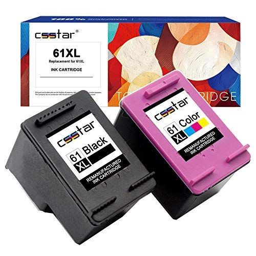 CSSTAR Remanufactured Ink Cartridge Replacement for HP 61XL Combo Pack for OfficeJet 4630 4635 4632 Envy 5530 4500 4502 5534 4501 DeskJet 3050 2050 2540 1000 1513 1510 1512 Printer Black amp Color