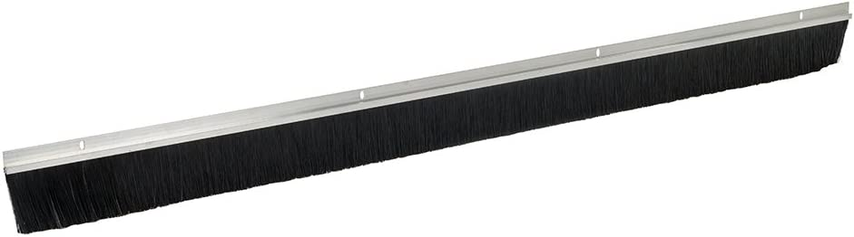 Pack of 2 2134mm 3 X Aluminium Garage Door Strip Draught Excluder Brush 1067mm Length 50mm Bristles