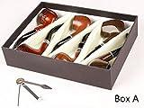 Smoking pipe, set of 6pcs, smoking pipe gift box, smoking pipe of steel & acrylic, tobacco pipe (Box A)