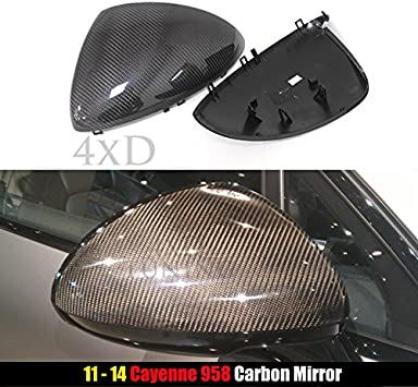 For Porsche Cayenne 958 2011-2014 Add On Style Rear Mirror Cover Carbon Fiber