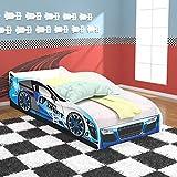 Cama Infantil Carro Drift - Azul/Branco - RPM Móveis