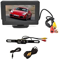 PCP® 4.3 Inch Color LCD TFT Rearview Monitor screen with License Plate Car Backup Camera