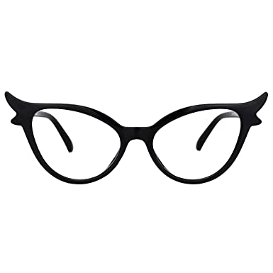 17e94d7468 Zeelool Vintage Oversized Witchy Cat Eye Glasses Frame for Women with Clear  Lens Judy VFP0158-