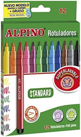 Alpino Plastialpino - Pack de 6 rotuladores doble punta: Amazon.es ...