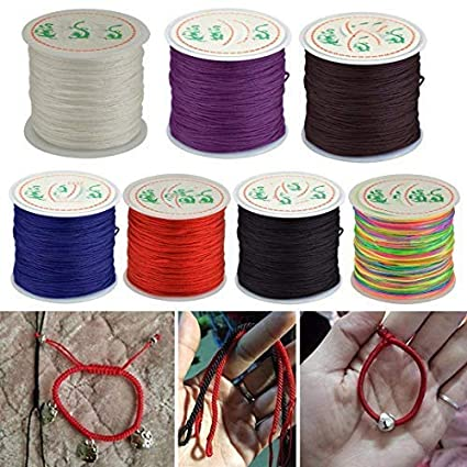 Red 0.8mm Nylon Cord Chinese Knotting Cord Braided String DIY Handcraft