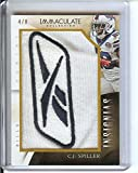 Football NFL 2014 Immaculate Collection Insignias #15 C.J. Spiller 4/8 Bills