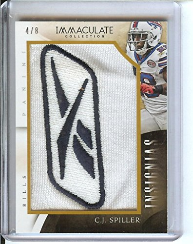 Football NFL 2014 Immaculate Collection Insignias #15 C.J. Spiller 4/8 Bills by immaculate