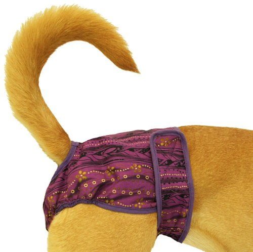 - Seasonals Washable Dog Diaper, Fits Petite Dogs, Purple Batik