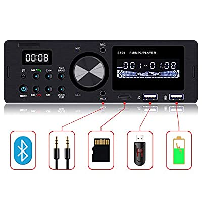 Everimprove Touch Screen Single Din Radio Bluetooth Car Stereo Receiver Dual USB SD AUX Input FM Radio Car Audio Radio Receiver with Wireless Remote: Car Electronics