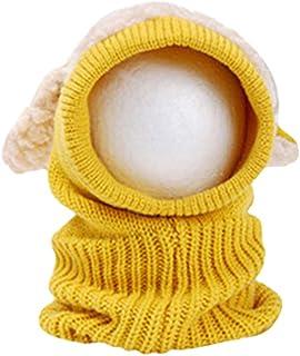Fenical Cappuccio per Cappelli Invernali per Cappelli di Lana per Bambini (Giallo) 915KRRE314438933HQNBKL0