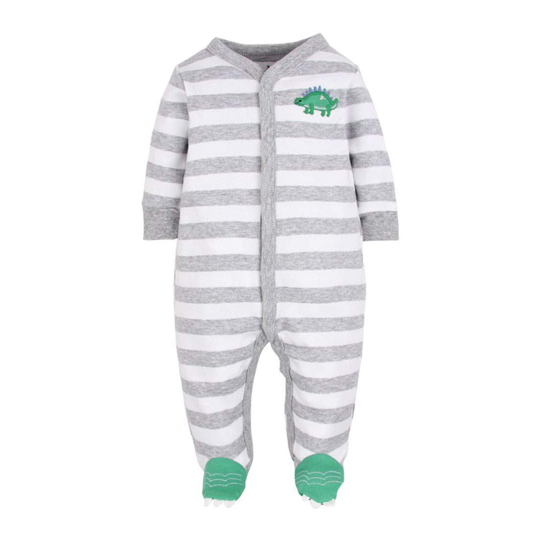 CARETOO Ourson b/éb/é somnolent somnolent b/éb/é Pyjama en Coton Bande dessin/ée Romper
