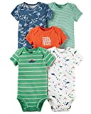 Carter's Baby Boys' 5 Pack Bodysuits (Baby) - Dinosaurs Mix 6M