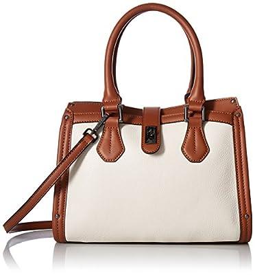 Calvin Klein Laiken Pebble Satchel, White/Luggage