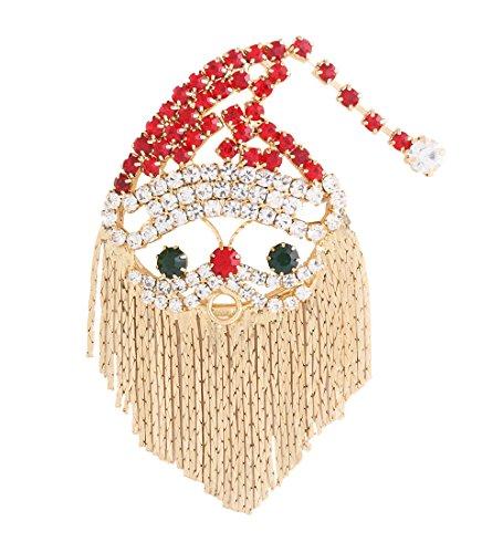 Crystal Cluster Pin (NLCAC Xmas Pin Brooch Crystal Cluster Beard Santa Clause)