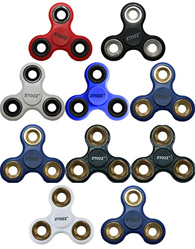 10 Pack Reducer - Spinner Fidget 10 Pack Stress Reducer Premium Bearing for Kids & Adults by ZTOZZ (10 pcs.)