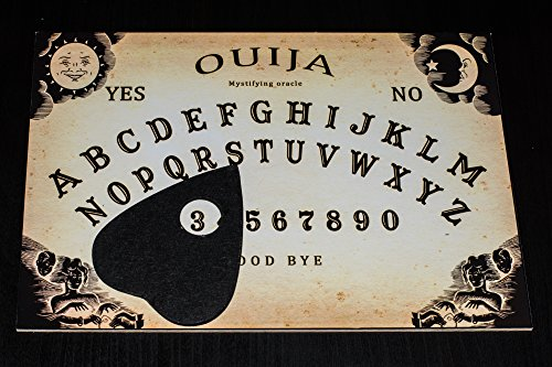 Classic style Wooden Ouija Spirit Board game with Planchette and detailed...