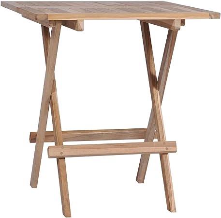 Tidyard Table de Bistro Pliable | Table Pliable de Jardin | Table  d\'Extérieur | Table de Salle à Manger | Table de Cuisine Bois de Teck  Massif 60 x 60 ...