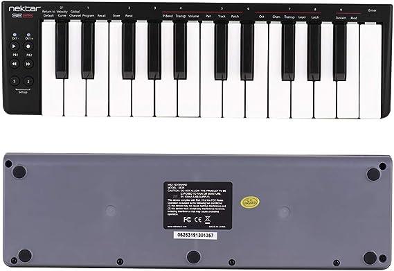 Muslady Nektar MIDI 25 Teclas Mini Controlador de Teclado ...