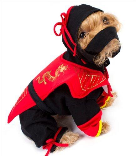 Ninja Dog Halloween Costumes (Dragon Ninja Dog Costume - Size 5 (14