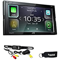 JVC KW-M740BT Apple CarPlay, Android Auto 2-DIN AV Receiver (No CD Drive) with back up camera