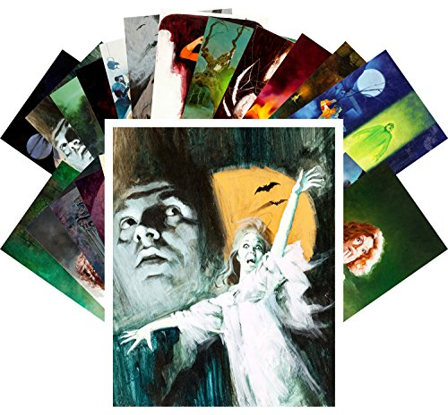 Postcard Set 24pcs Vintage Pulp Horror Pinup Art by Enrique Torres Prat