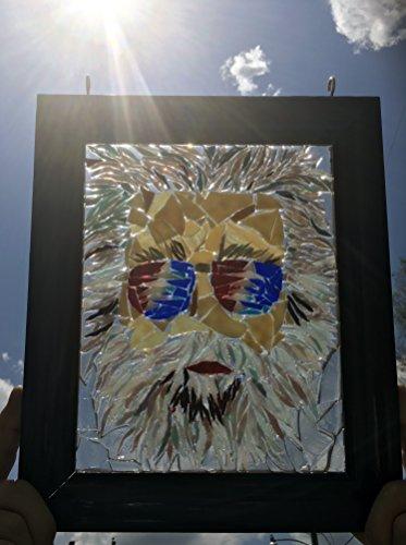 Jerry Garcia stained glass window art suncatcher by Mountain Mosaics (Image #2)