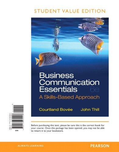 Business Communication Essentials, Student Value Edition (6th Edition)