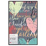 Snap U-Channel Poster Frame, 22.375 by 34-Inch, Black