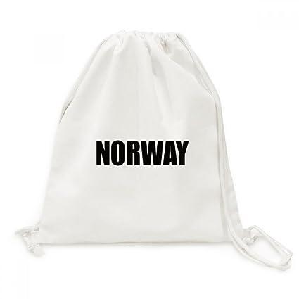 DIYthinker Viajes Noruega País Nombre Negro Lienzo morral del Lazo Bolsas de la Compra