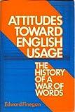 Attitudes Toward English Usage, Edward Finegan, 0807725811