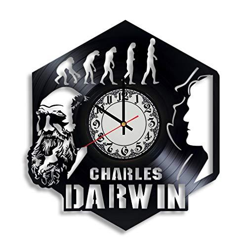 Lepri4ok Charles Darwin Handmade Wall Clock, Darwin Print, Darwin Fish Darwin Tree of Life Darwin Monkey Darwin The Turtle Charles Darwin i Think Portraite