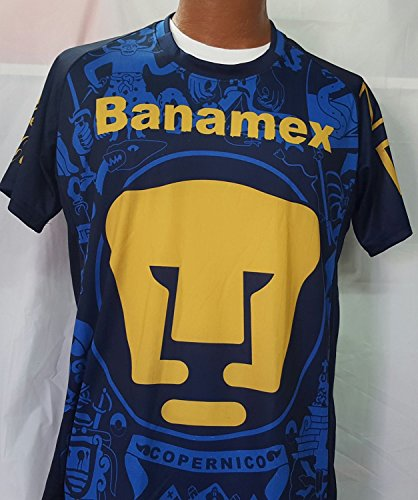 New Pumas Away Black & Blue Replica Jersey Adult Medium by Liga MX