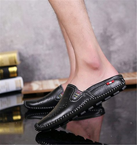 Bininbox Platte Sandal Heren Ademende Schoen Met Gesloten Neus En Zwart Zwart