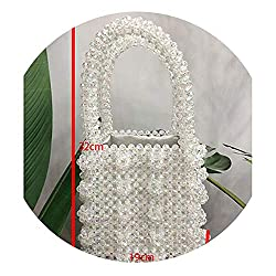 Women's Designer Crystal Beaded Handmade Pearl Handbag